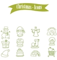 Set of Christmas theme collection with snowman vector image