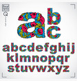 set of ornate lowercase letters flower-patterned vector image