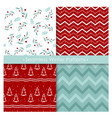 set seamless christmas vector image