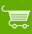 shopping trolley icon green vector image vector image