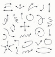 sketch arrow set for your business and education vector image vector image