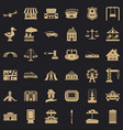 small city icons set simple style vector image vector image