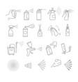 sprays isolated icons aerosol and airbrush