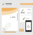 sword business logo file cover visiting card and vector image vector image