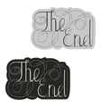tablet with the end of the inscription vector image vector image
