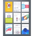 Templates flyer brochure magazine cover vector image vector image