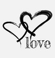 the black heart is painted by hand handwritten vector image vector image