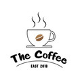 the coffee east 2018 cup of coffee background vect vector image vector image