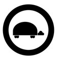 turtle icon black color in circle vector image vector image