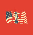usa letters american flag and statue liberty vector image