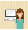 user technology design vector image vector image