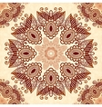 vintage round seamless pattern in indian mehndi vector image