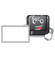 with board cartoon esc button attached to computer vector image vector image