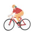 Woman riding bicycle girl on bike