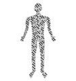 wrench man figure vector image vector image