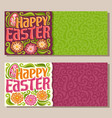 banners for happy easter holiday vector image