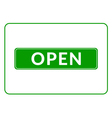 Open sign green vector image