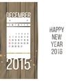 December 2015 vector image