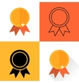 set medals executed in different flat style High vector image