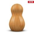 Russian tradition matrioshka wood doll vector image