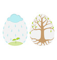 spring eggs vector image
