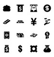 16 wealth icons vector image vector image