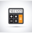 a simple calculator vector image vector image