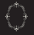 Abstract Floral Frame In Victorian Style vector image vector image