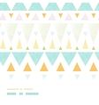 Abstract ikat triangles stripes horizontal vector image vector image