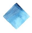 abstract indigo and aqua blue square watercolor vector image vector image