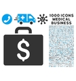 Accounting Case Icon with 1000 Medical Business vector image vector image