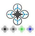 air drone flat gradient icon vector image vector image