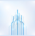 arrow blue geometric abstract technology vector image