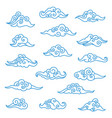 asian clouds set vector image vector image
