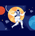 astronaut in outer space spacewalk astronauts vector image vector image