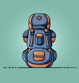 backpack icon flat design vector image vector image