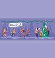 banner template for christmas sale vector image