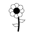 beautiful flower icon vector image vector image