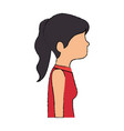 beautiful woman profile avatar character vector image vector image