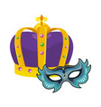 bejeweled crown and mask vector image