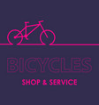 biking linear stylish logo vector image