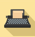 black classic typewriter icon flat style vector image vector image