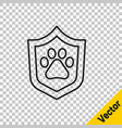 black line animal health insurance icon isolated vector image vector image