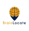 brain point place logo design template vector image vector image