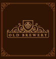 brewery label vector image