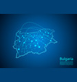 bulgaria map with nodes linked by lines concept vector image