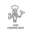 chef cooking line icon outline sign linea vector image vector image