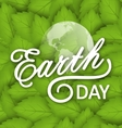 Concept Background for Earth Day Holiday vector image vector image