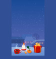 cozy christmas stories format home isolation vector image