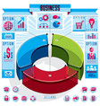 creative infographics conceptual composition 3d vector image